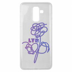Чехол для Samsung J8 2018 Flowers line bts