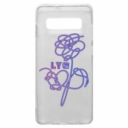 Чехол для Samsung S10+ Flowers line bts
