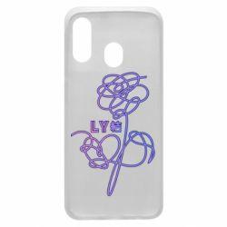 Чехол для Samsung A40 Flowers line bts