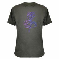 Камуфляжная футболка Flowers line bts