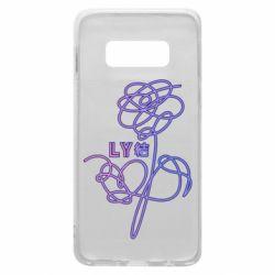 Чехол для Samsung S10e Flowers line bts