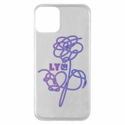 Чехол для iPhone 11 Flowers line bts