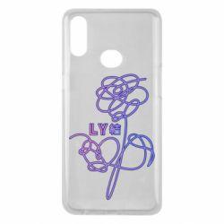Чехол для Samsung A10s Flowers line bts