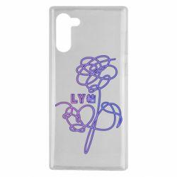 Чехол для Samsung Note 10 Flowers line bts