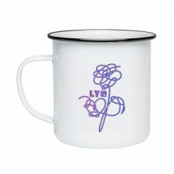 Кружка эмалированная Flowers line bts