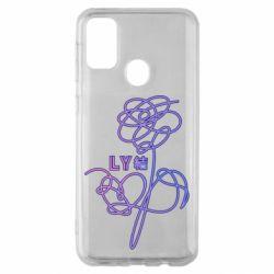 Чехол для Samsung M30s Flowers line bts