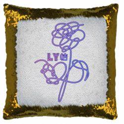 Подушка-хамелеон Flowers line bts
