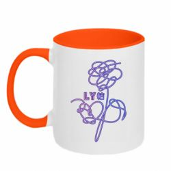 Кружка двухцветная 320ml Flowers line bts