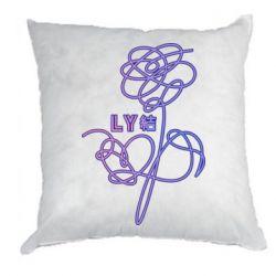 Подушка Flowers line bts