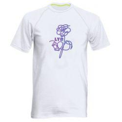 Мужская спортивная футболка Flowers line bts