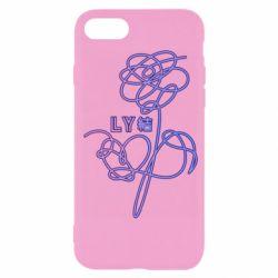 Чехол для iPhone 7 Flowers line bts