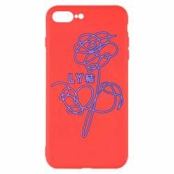 Чехол для iPhone 7 Plus Flowers line bts