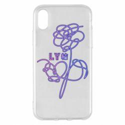 Чехол для iPhone X/Xs Flowers line bts
