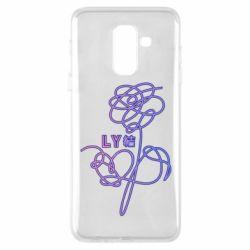 Чехол для Samsung A6+ 2018 Flowers line bts