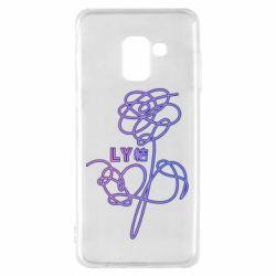 Чехол для Samsung A8 2018 Flowers line bts