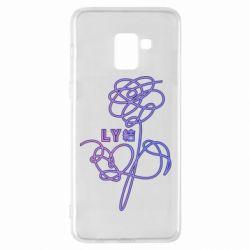 Чехол для Samsung A8+ 2018 Flowers line bts