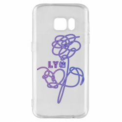 Чехол для Samsung S7 Flowers line bts