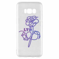 Чехол для Samsung S8 Flowers line bts