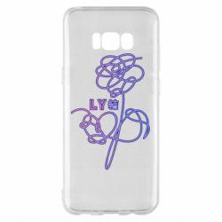 Чехол для Samsung S8+ Flowers line bts