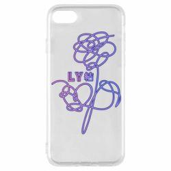 Чехол для iPhone 8 Flowers line bts