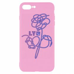 Чехол для iPhone 8 Plus Flowers line bts