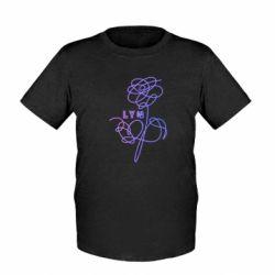 Детская футболка Flowers line bts