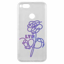 Чехол для Xiaomi Mi A1 Flowers line bts
