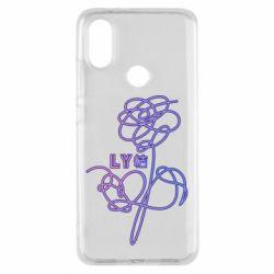 Чехол для Xiaomi Mi A2 Flowers line bts