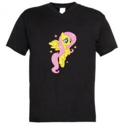 Чоловічі футболки з V-подібним вирізом Fluttershy - FatLine