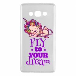 Чохол для Samsung A7 2015 Fly to your dream and lion