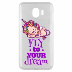 Чохол для Samsung J4 Fly to your dream and lion