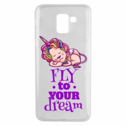 Чохол для Samsung J6 Fly to your dream and lion