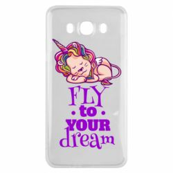 Чохол для Samsung J7 2016 Fly to your dream and lion