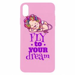 Чохол для iPhone Xs Max Fly to your dream and lion