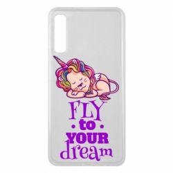 Чохол для Samsung A7 2018 Fly to your dream and lion