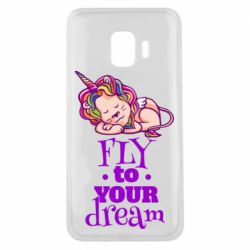 Чохол для Samsung J2 Core Fly to your dream and lion