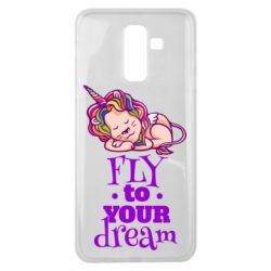Чохол для Samsung J8 2018 Fly to your dream and lion