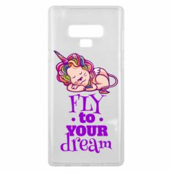 Чохол для Samsung Note 9 Fly to your dream and lion