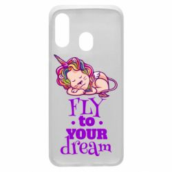 Чохол для Samsung A40 Fly to your dream and lion