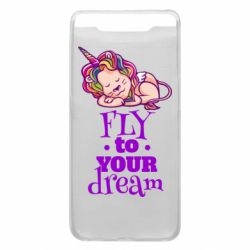 Чохол для Samsung A80 Fly to your dream and lion