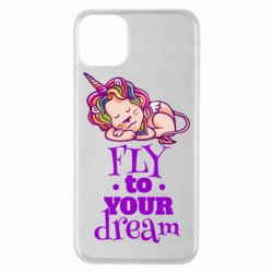 Чохол для iPhone 11 Pro Max Fly to your dream and lion
