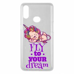 Чохол для Samsung A10s Fly to your dream and lion