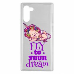 Чохол для Samsung Note 10 Fly to your dream and lion