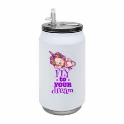 Термобанка 350ml Fly to your dream and lion
