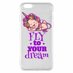 Чохол для iPhone 6 Plus/6S Plus Fly to your dream and lion
