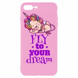 Чохол для iPhone 7 Plus Fly to your dream and lion