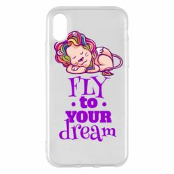 Чохол для iPhone X/Xs Fly to your dream and lion