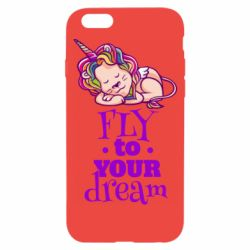 Чохол для iPhone 6/6S Fly to your dream and lion
