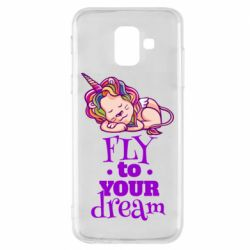 Чохол для Samsung A6 2018 Fly to your dream and lion