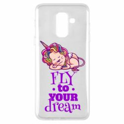Чохол для Samsung A6+ 2018 Fly to your dream and lion
